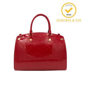 New Louis Vuitton Brea MM Monogram Vernis Cherry